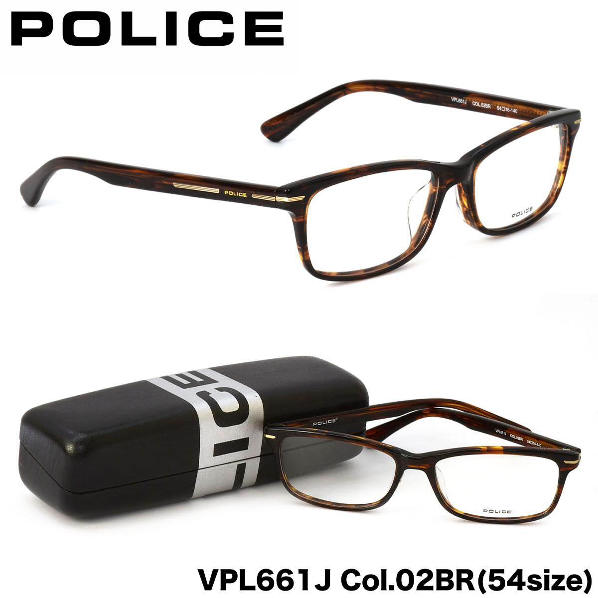 ポイント最大42倍!!お得なクーポンも !! ポリス POLICE メガネVPL661J 02BR 54サイズスマート シャープ ビジネス ポリス POLICE メンズ レディース