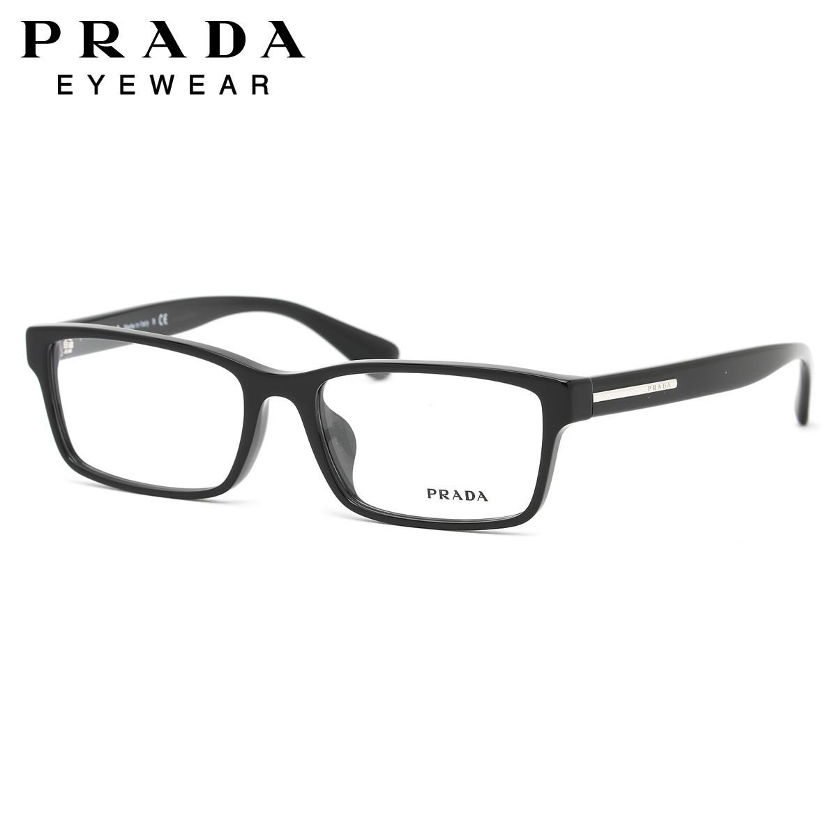 PRADA プラダ メガネ フレーム PR01SV 1AB1O1 56サイズ スクエア アジアンフィット プラダ PRADA メンズ レディース