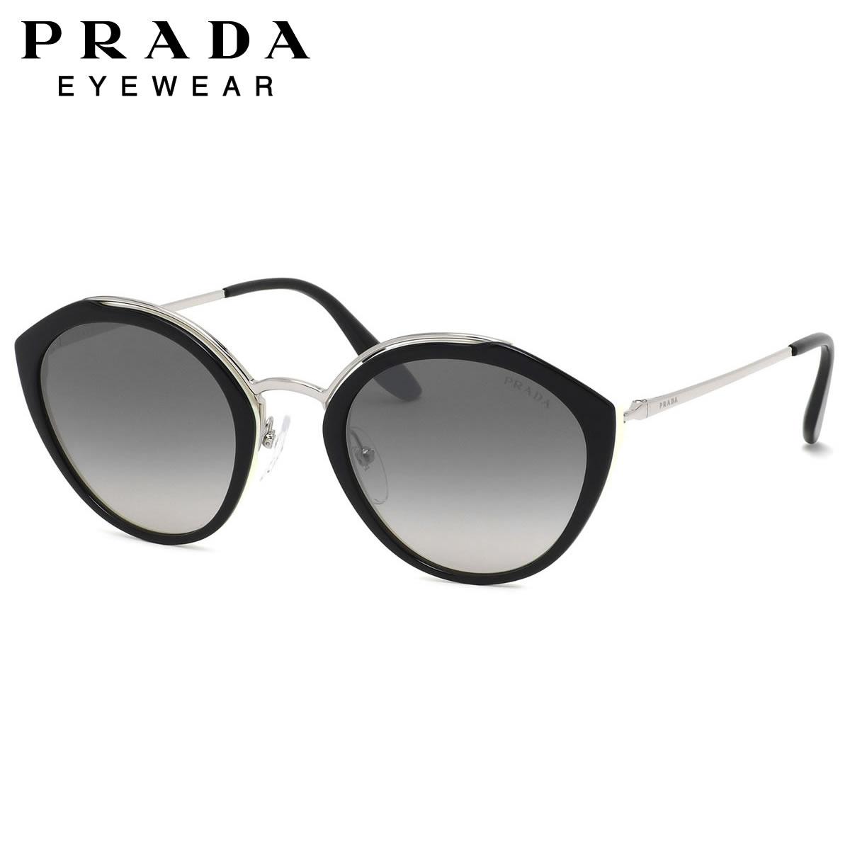 プラダ PRADA サングラス PR18US 4BK5O0 53サイズ キャッツアイ アーモンド Made in Italy ブラック ホワイト コンビネーション メンズ レディース