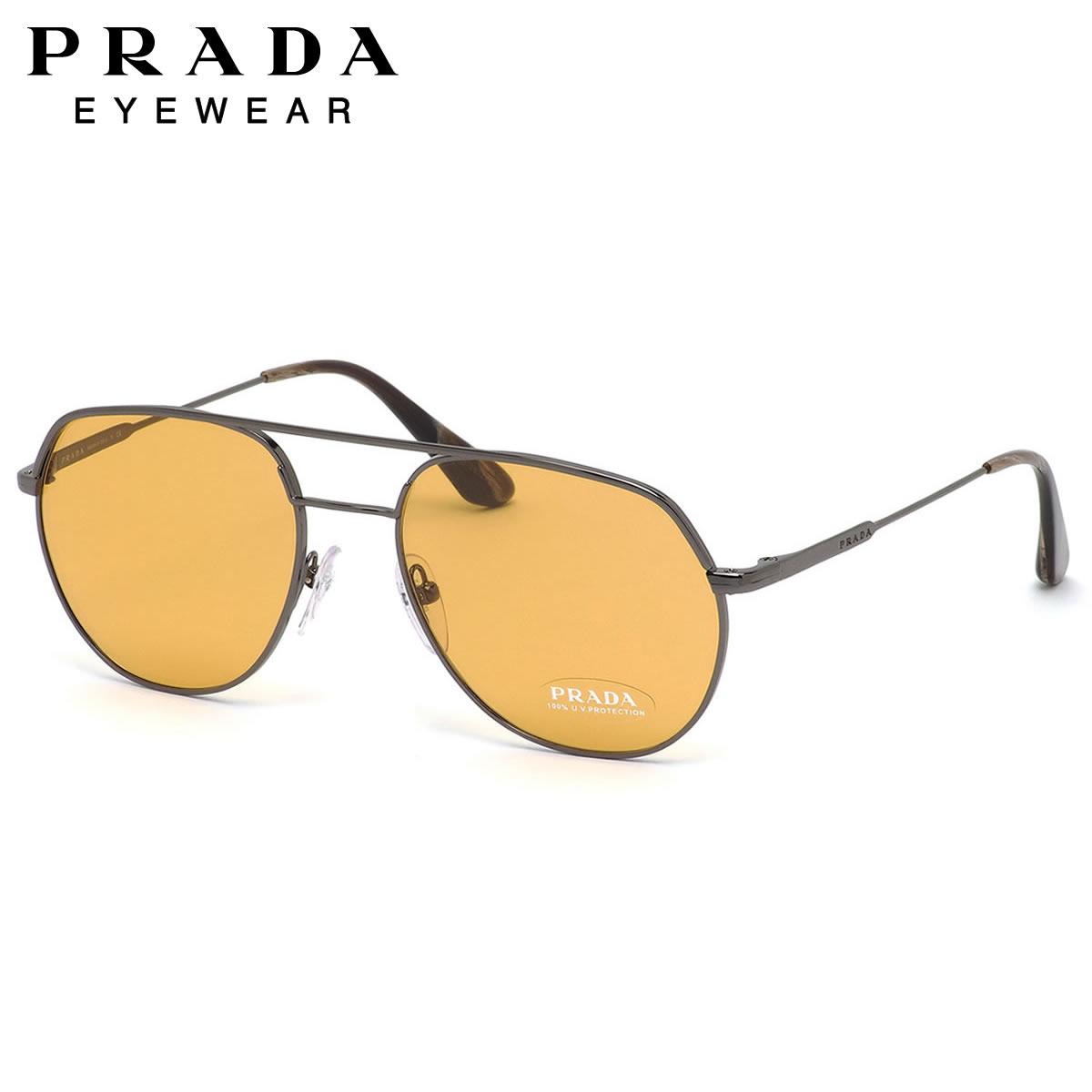 【10月30日からエントリーで全品ポイント20倍】プラダ PRADA サングラスPR55US 5AV0B7 54サイズツーブリッジ プラダ PRADA メンズ レディース