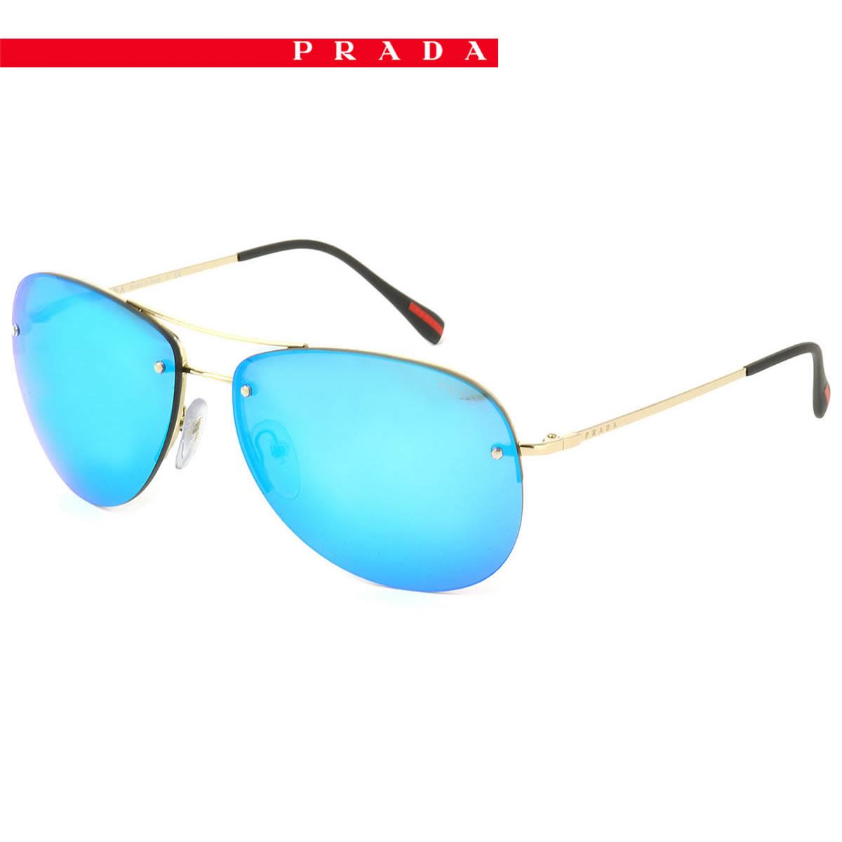 1381c3a20a (PRADA SPORT) sunglasses PS50RS ZVN5M2 62 size teardrop mirror lens PRADA  SPORTS リネアロッサ LINEA ROSSA PRADASPORT men gap Dis