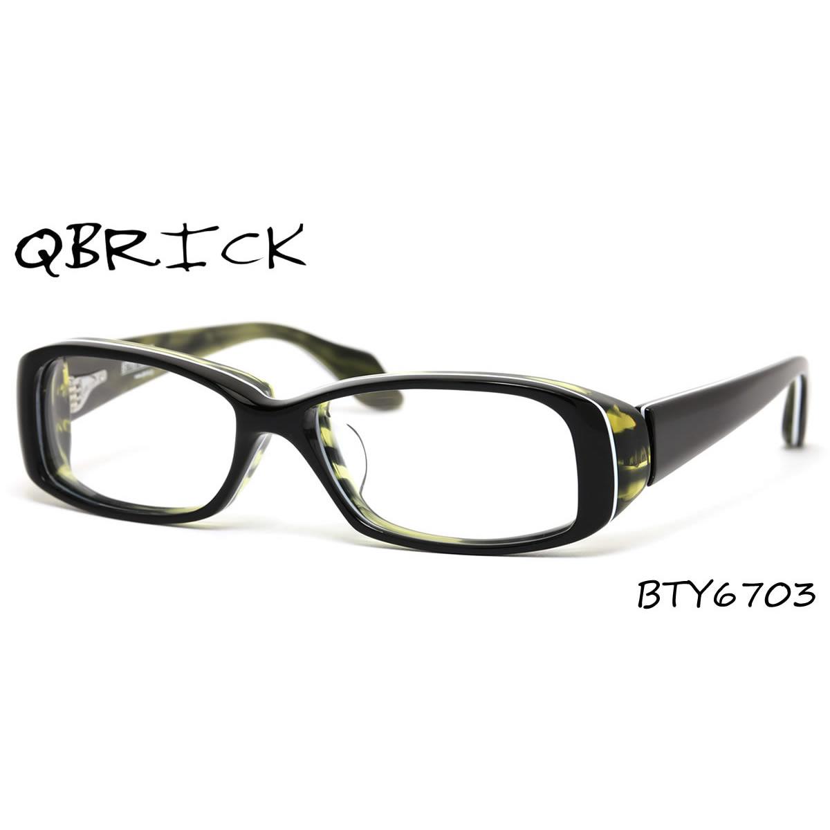 ほぼ全品ポイント15倍~最大43倍+3倍!お得なクーポンも! 【Qbrick】 (キューブリック) メガネ フレーム BTY6703 58サイズ キューブリック QBRICK メンズ レディース