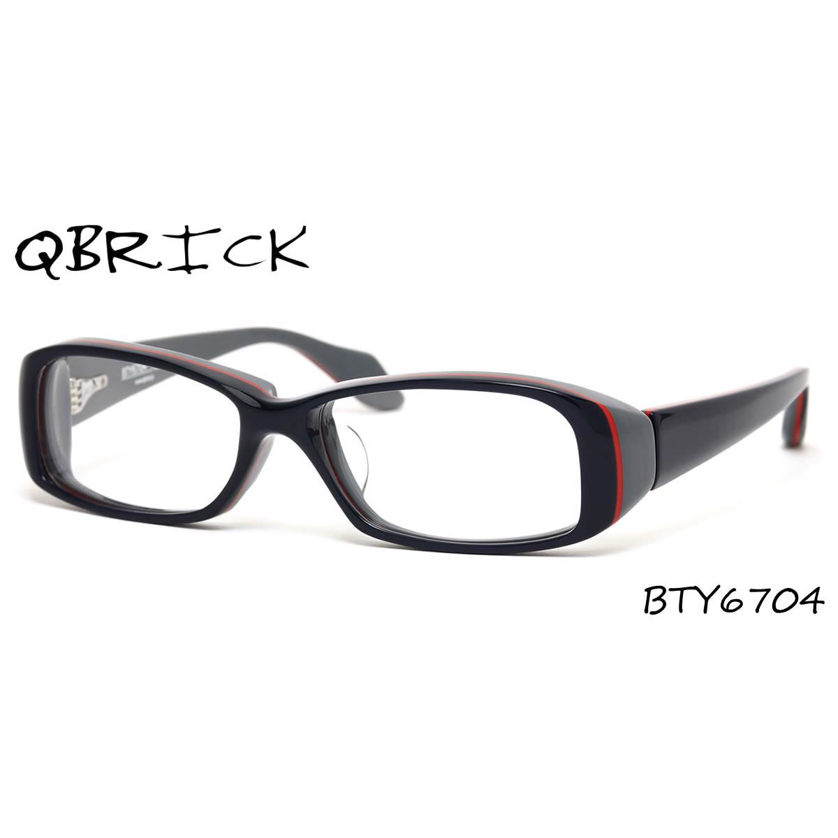 ほぼ全品ポイント15倍~最大43倍+3倍!お得なクーポンも! 【Qbrick】 (キューブリック) メガネ フレーム BTY6704 58サイズ キューブリック QBRICK メンズ レディース