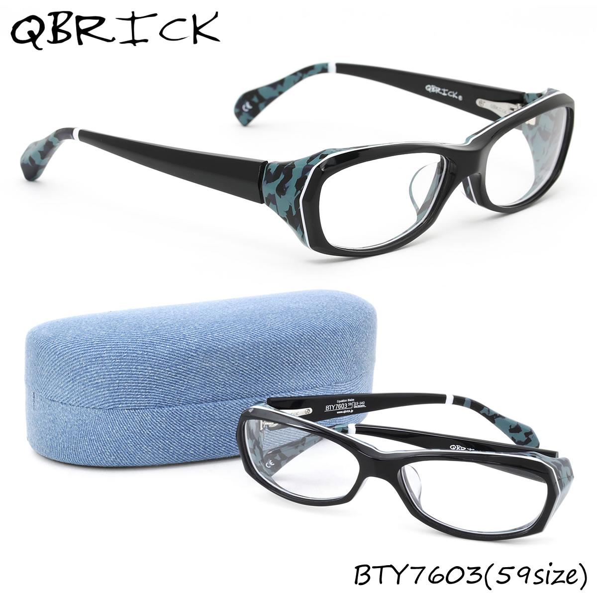 ほぼ全品ポイント15倍~最大43倍+3倍!お得なクーポンも! 【Qbrick】(キューブリック) メガネ フレーム BTY7603 59サイズ スクエア BLAISE ブレーズキューブリック QBRICK メンズ レディース