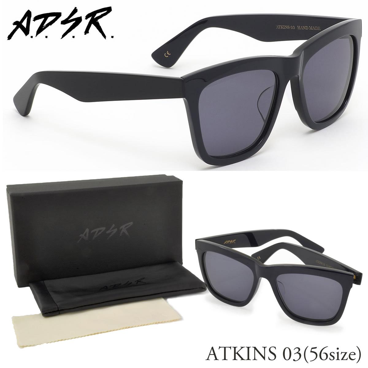 【10月30日からエントリーで全品ポイント20倍】【A.D.S.R.】 (エーディーエスアール) サングラスATKINS03 NV/BLK 56サイズA.D.S.R. ADSR メンズ レディース
