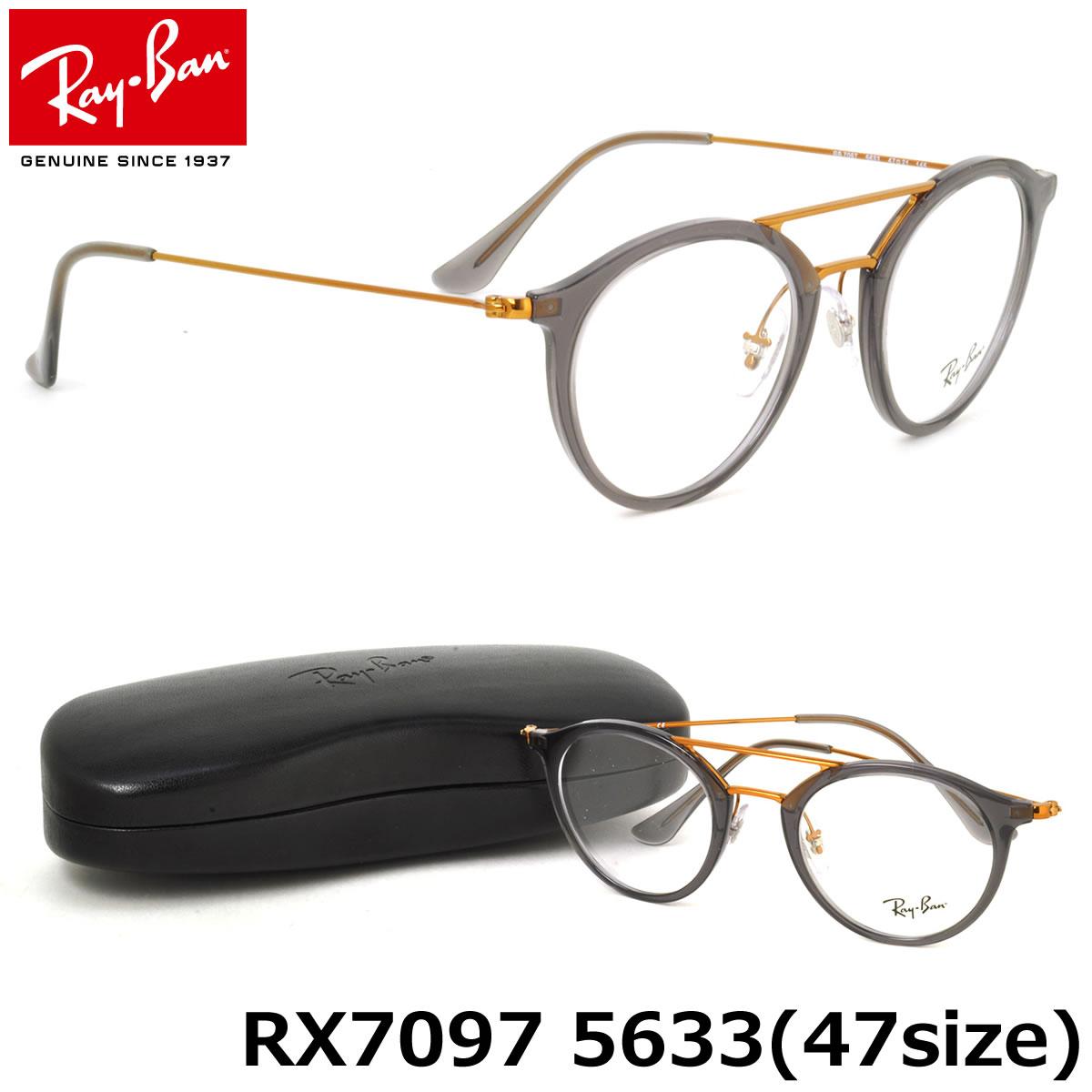 49b5e1c117 (Ray-Ban) glasses RX7097 5633 47 size-to-bridge round round glasses RayBan  men s women s