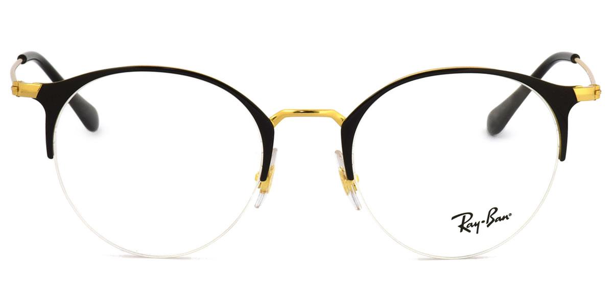 Ray-Ban レイバン メガネRX3578V 2890 50サイズHIGHSTREET ハイストリート ボストン ブロー ナイロール ハーフリム フラット 丸メガネ 軽量レイバン RayBan メンズ レディース