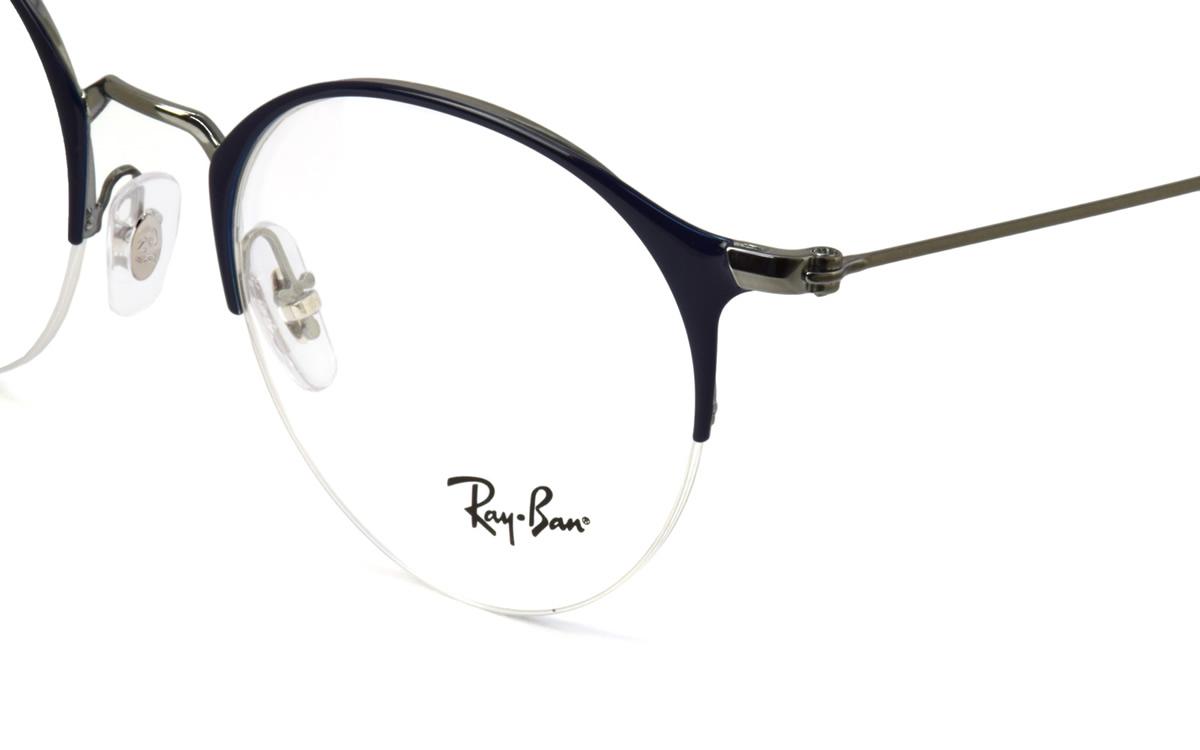 Ray-Ban レイバン メガネRX3578V 2906 50サイズHIGHSTREET ハイストリート ボストン ブロー ナイロール ハーフリム フラット 丸メガネ 軽量レイバン RayBan メンズ レディース