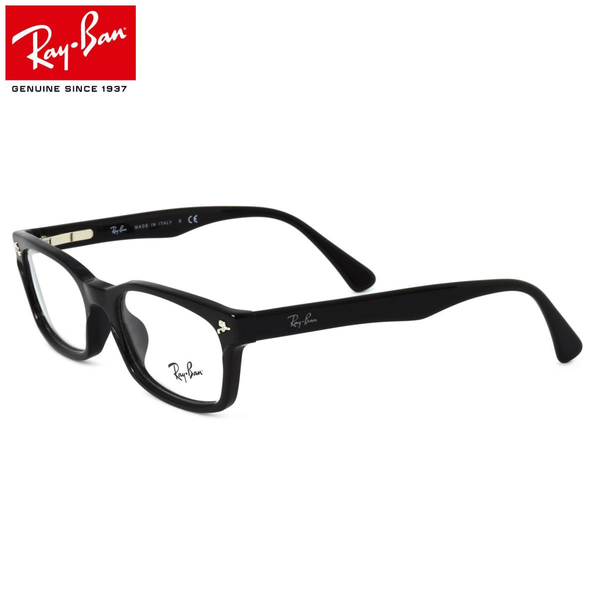 ほぼ全品ポイント15倍~最大34倍+2倍! Ray-Ban レイバン メガネRX5017A 2000 ITALY 52サイズRX5017A イタリア製 MADE IN ITALY 黒縁 バネ丁番レイバン RayBan メンズ レディース