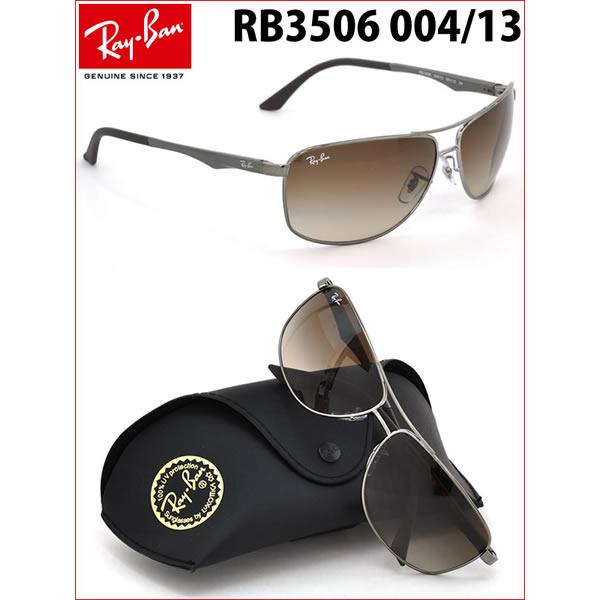 Captivating Ray Ban Sunglasses RB3506 004/13 64size GENUINE NEW Rayban Ray Ban