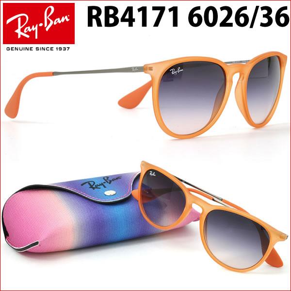 ポイント最大42倍!!お得なクーポンも !! レイバン サングラス エリカ Ray-Ban RB4171 602636 54サイズレイバン RAYBAN ERIKA 602636 ボストン 丸メガネ メンズ レディース