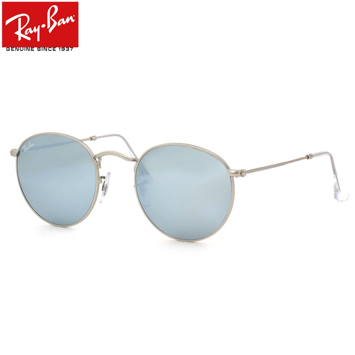 レイバン サングラス ミラー ラウンドメタル Ray-Ban RB3447 019/30 50サイズ レイバン RAYBAN ROUND FLASH LENSES 01930 METAL 丸メガネ ミラー ICONS アイコン メンズ レディース
