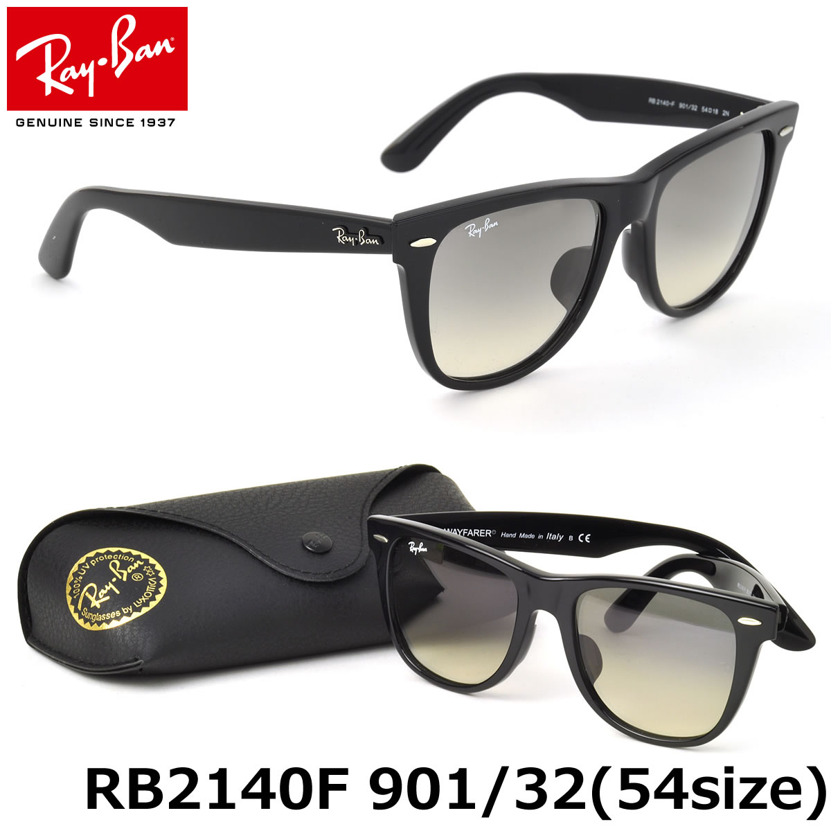 51b58efdc6 Ray-Ban Sunglasses RB2140F 901 32 54size WAYFARER FULL FIT (for Asian)  GENUINE NEW rayban ray ban