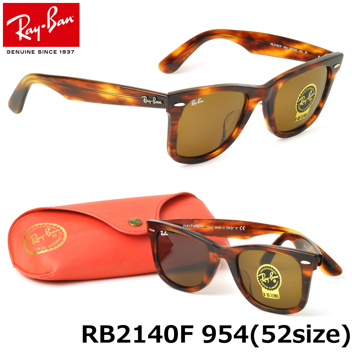 4bc766c5d1 Ray-Ban Sunglasses RB2140F 954 52size WAYFARER FULL FIT (for Asian) GENUINE  NEW rayban ray ban