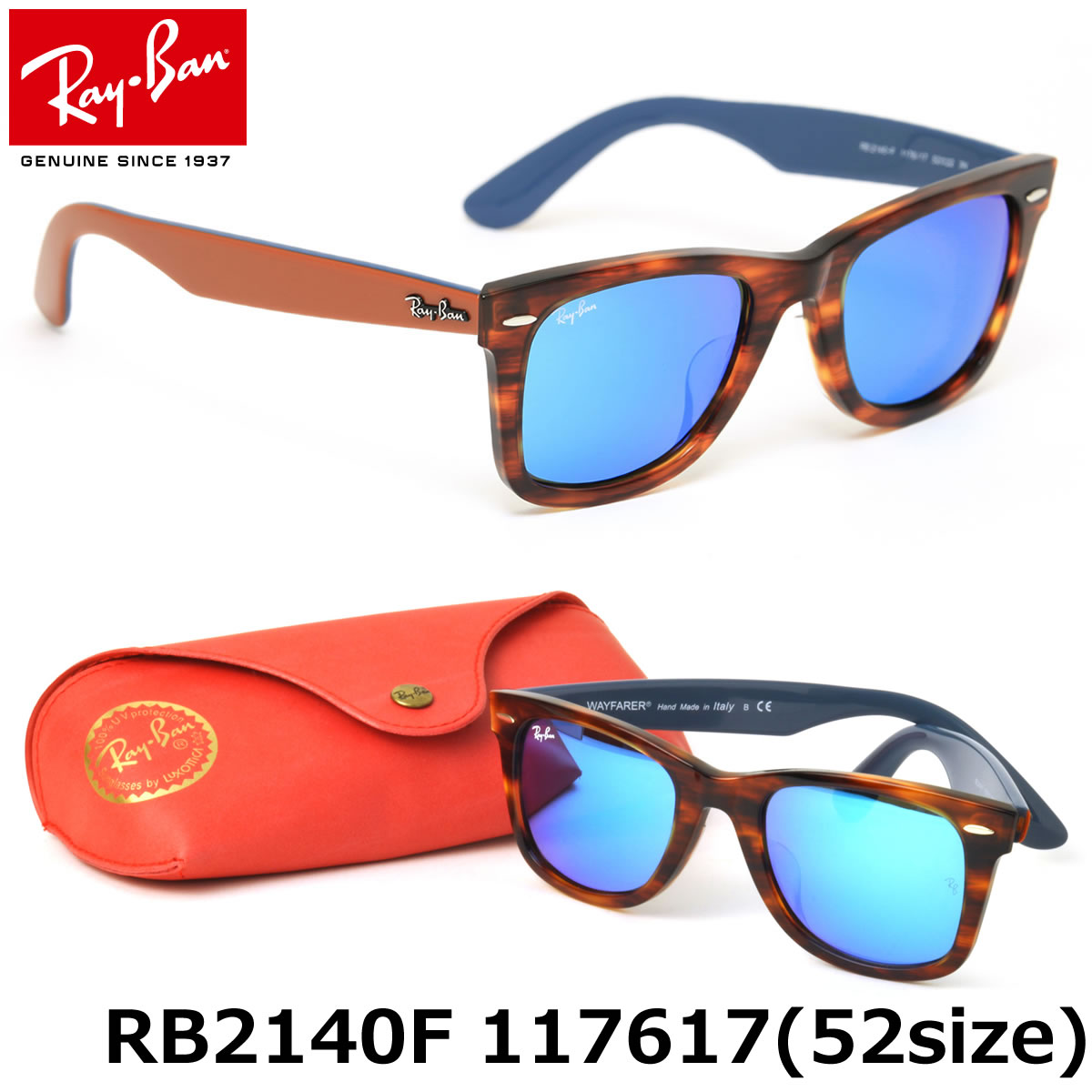 0edd5bfd6edff ... coupon code for ray ban sunglasses rb2140f 117617 52size wayfarer full  fit for asian genuine new