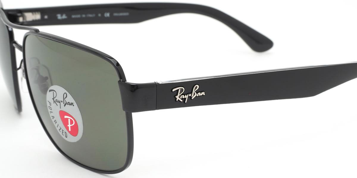 レディース 偏光サングラス メンズ ツーブリッジ レイバン 偏光 Ray-Ban RB3530 002/9A スクエア サングラス 58サイズレイバン RAYBAN 0029A 偏光レンズ ダブルブリッジ