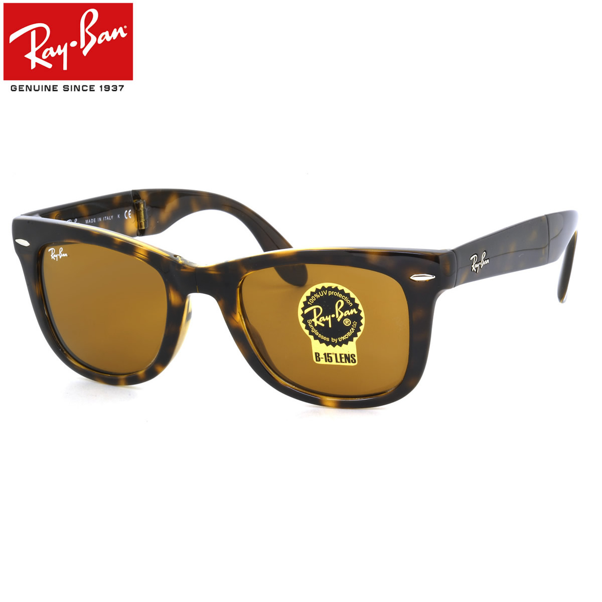 Men Tortoiseshell Ban Tortoise Folding Rb4105 710 Icon Icons Farrar 50 Wayfarer Ray Rayban Way Sunglasses Size Shell 35Aj4RL