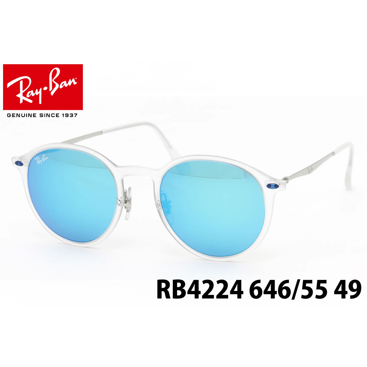 eb1fb504254b4 RB4224 of the Ray-Ban TECH (Ray-Ban technical center) LIGHT RAY (light lei)  series. I used a β titanium material superior in elasticity for a metal  moiety ...