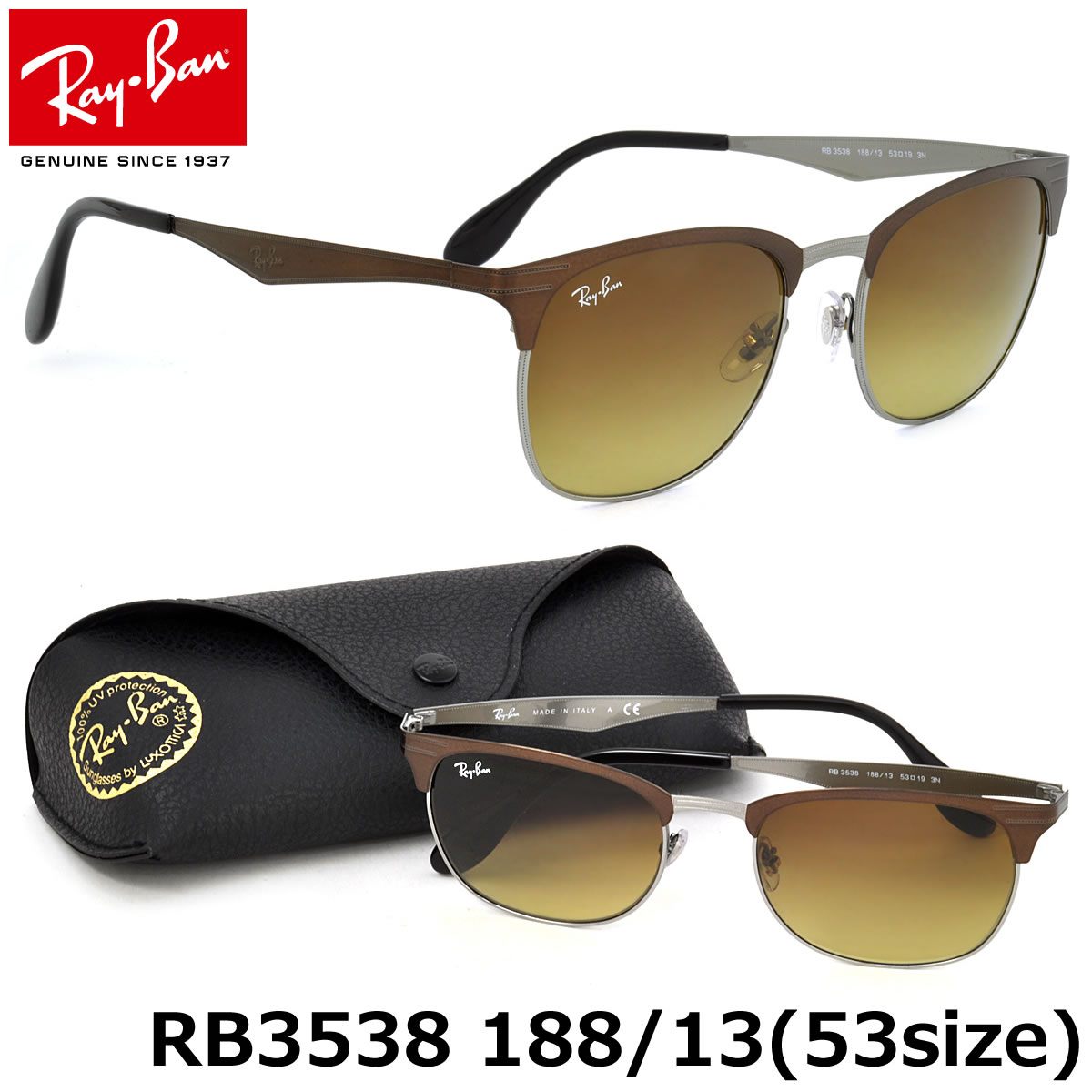 Optical Shop Thats  Ray-Ban Sunglasses RB3538 188 13 53size GENUINE ... 30a63efd29