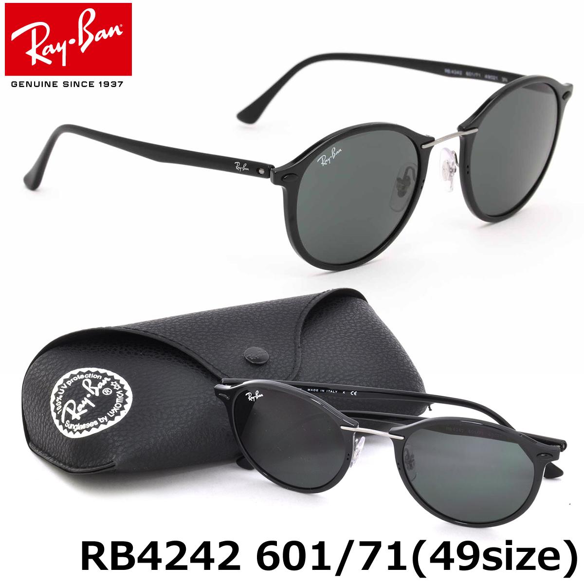 0a17e4360a Ray-Ban sunglasses technical center light lei Ray-Ban RB4242 601 71 49 size  Ray-Ban RAYBAN TECH LIGHT RAY 60171 ROUND round-maru glasses men gap Dis