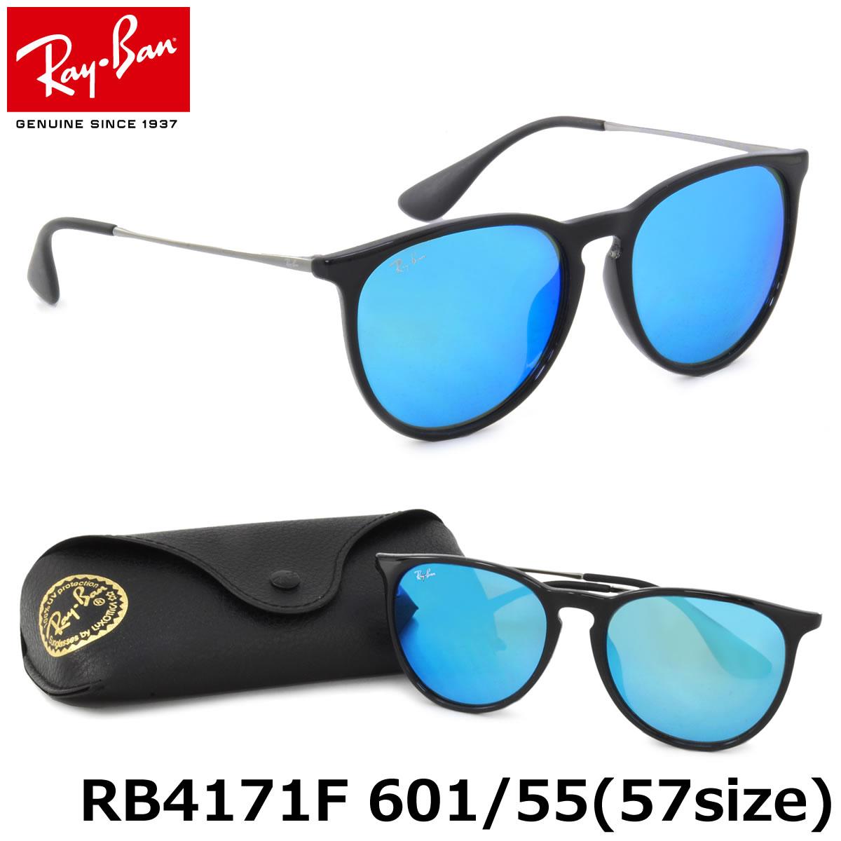 【10月30日からエントリーで全品ポイント20倍】レイバン サングラス ミラー エリカ Ray-Ban RB4171F 601/55 57サイズレイバン RAYBAN ERIKA FLASH LENSES 60155 ボストン 丸メガネ ミラー ブルーレンズ フルフィット メンズ レディース