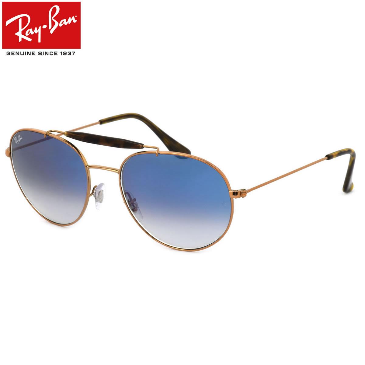 レイバン サングラス Ray-Ban RB3540 90353F 53サイズ 56サイズ レイバン RAYBAN 9035/3F OUTDOORSMAN アウトドアーズマン ツーブリッジ ダブルブリッジ ROUND ラウンド ボストン 丸メガネ べっ甲 べっこう ブルーレンズ メンズ レディース