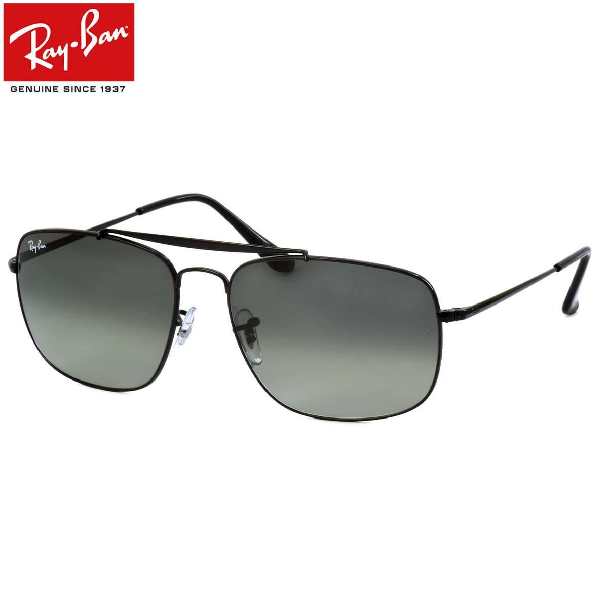 Ray-Ban レイバン サングラス RB3560 002/71 58サイズ 61サイズ COLONEL コロネル 大佐 ツーブリッジ ダブルブリッジ ブラック レイバン RayBan メンズ レディース
