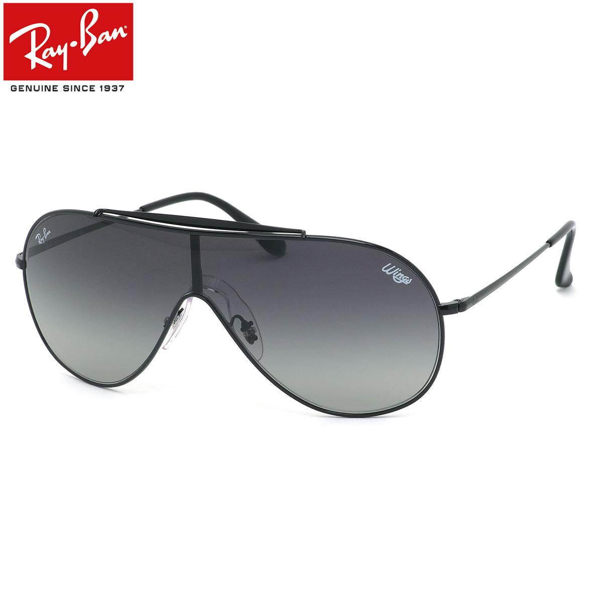 【10月30日からエントリーで全品ポイント20倍】Ray-Ban レイバン サングラスRB3597 002/11 133サイズWINGSウイングスBLAZEブレイズ 1枚レンズ ワンシールド グラデーションメンズ レディース