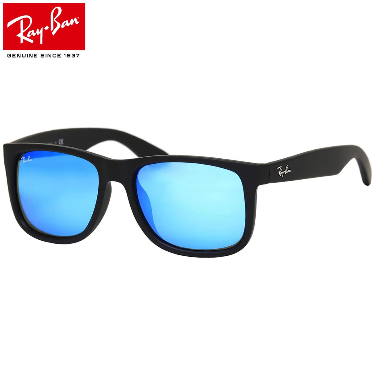 ray ban justin matte blue