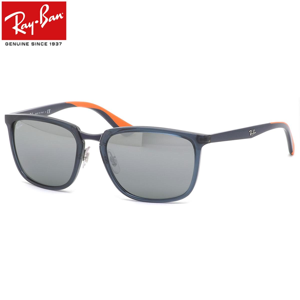 Ray-Ban レイバン サングラス RB4303 636488 57サイズ 6364/88 コンビネーション トランスパレント ミラーレンズ マット ラバー メンズ レディース