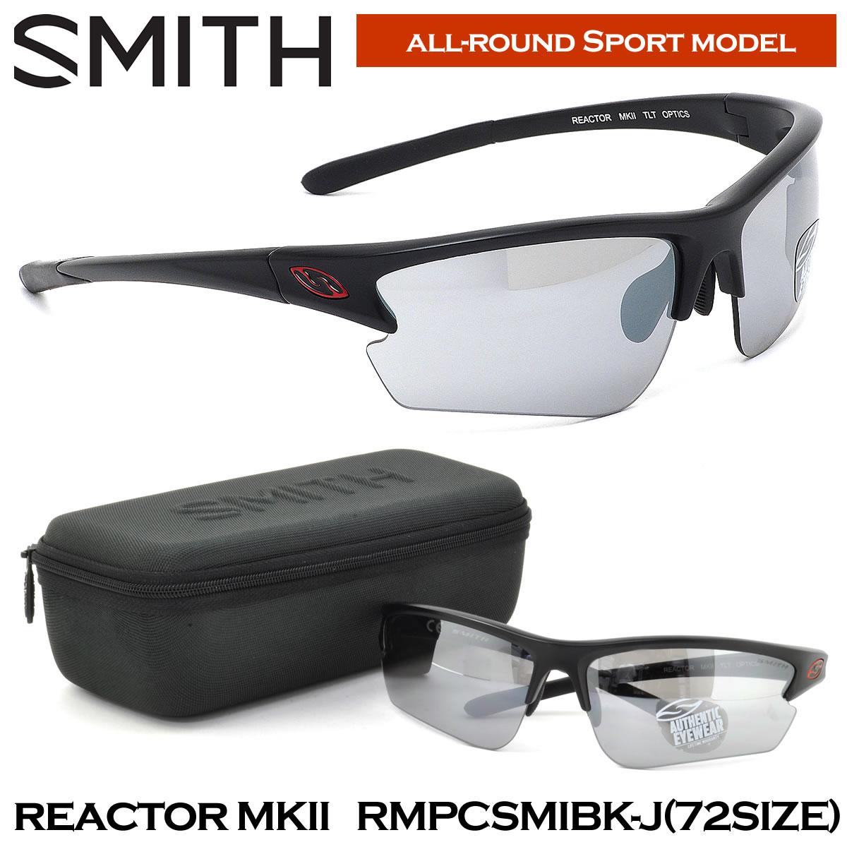 【10月30日からエントリーで全品ポイント20倍】【スミスオプティクス】 (SMITH OPTICS) サングラスREACTOR MK2 RMPCSMIBK-J 72サイズスポーツサングラス ステッカー付き reactor MK2 スミスオプティクス SMITH OPTICS smith optics SMITHOPTICS メンズ レディー