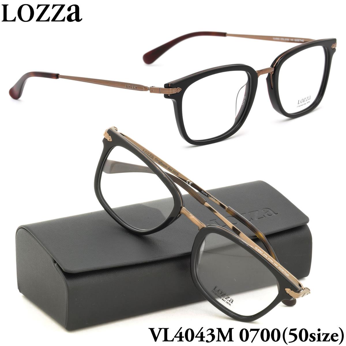 ほぼ全品ポイント15倍~最大43倍+3倍!お得なクーポンも! 【LOZZA】ロッツァ 眼鏡 メガネ フレーム VL4043M 0700 50サイズ GOETHE ウェリントン メンズ レディース