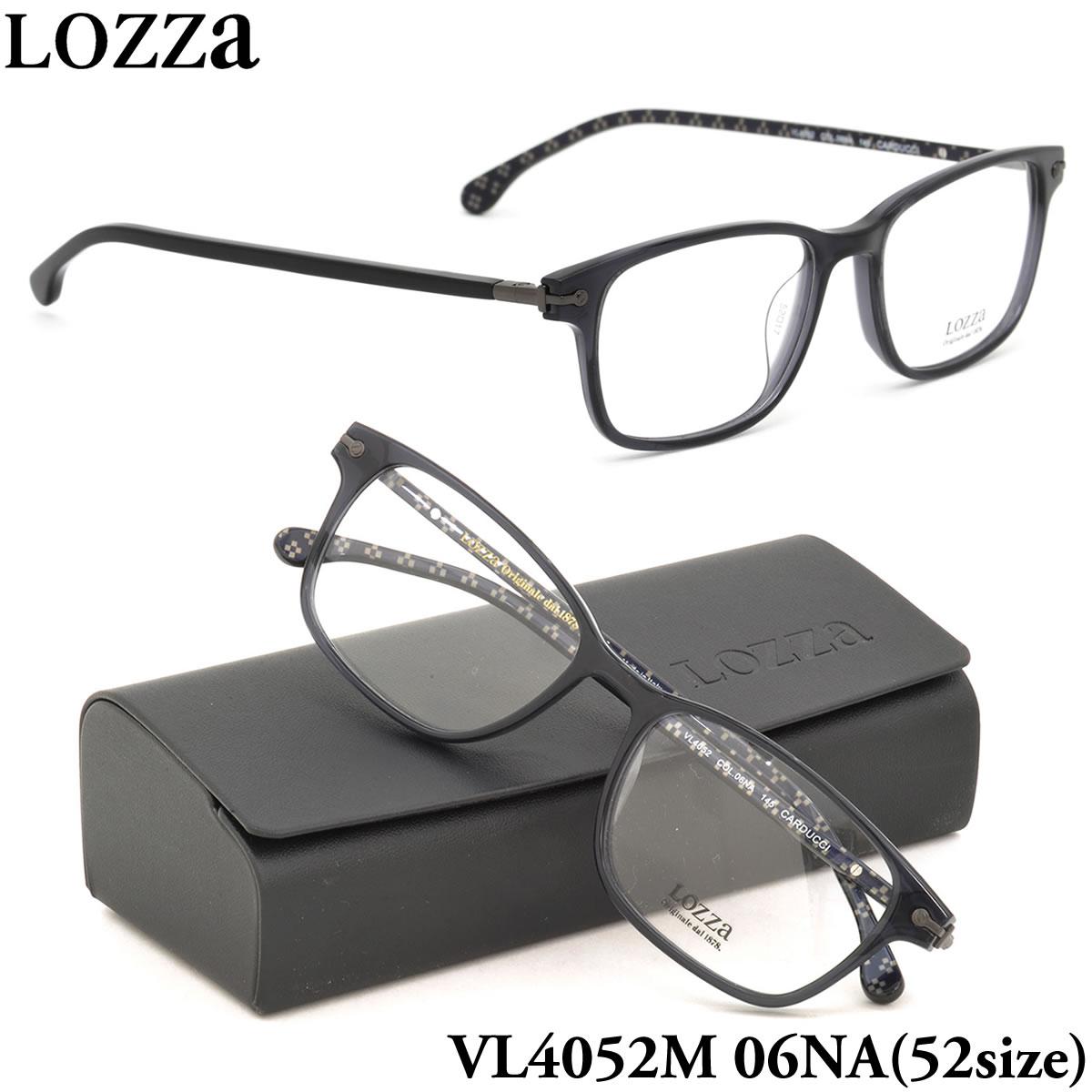 【10月30日からエントリーで全品ポイント20倍】【LOZZA】ロッツァ 眼鏡 メガネ フレーム VL4052M 06NA 52サイズ CARDUCCI バネ丁番 バネ蝶番 スクエア メンズ レディース