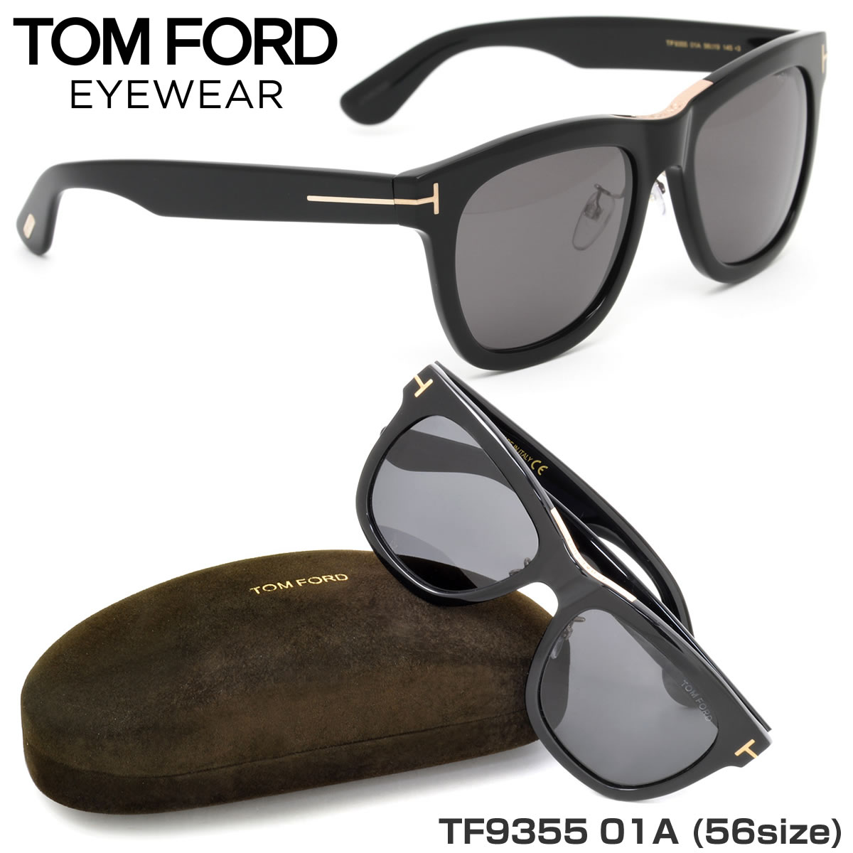 85e0f02213 (TOM FORD) sunglasses TF9355 01A 56 size Wellington TOMFORD Ford FT9355 s  men s women s