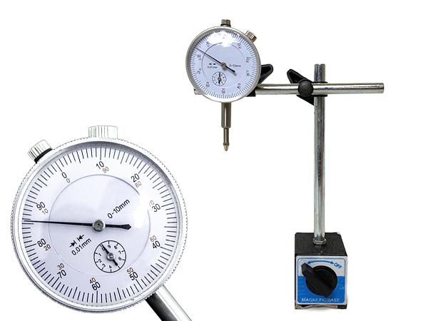 平行度 平面度 偏芯度の測定に最適 ダイヤルゲージ テストインジケーター マグネットベース付き 平面度測定 セール 返品不可 登場から人気沸騰 加工 作業用 測定器 偏芯測定 平行度測定 測量器 一般測定