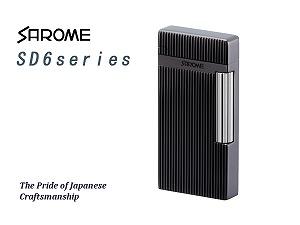 SAROME TOKYO サロメ ガスライター フリントライター SD6シリーズ 黒ニッケル/ダイヤカット/ヘアライン SD6-18【送料無料】