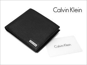 卡尔文 · 克莱恩钱包钱包男士两折钱夹黑色 79215
