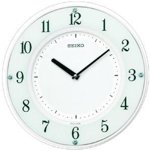 SEIKO セイコー 薄型 ソーラープラス 木枠 電波掛時計 SF505W