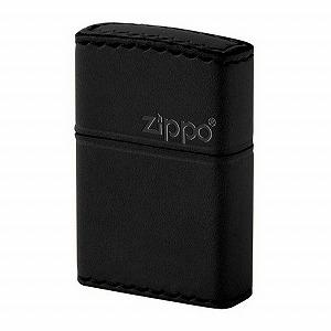 【ZIPPO】ジッポー オイルライター REAL LEATHER HAND MADE 革巻き カワマキ ヨコロゴ 本牛革 ブラック B-5 【メール便可能】