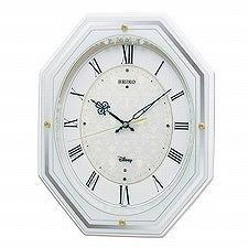 【SEIKO CLOCK】セイコークロック製セイコー SEIKO ディズニータイム アナと雪の女王 電波掛け時計 FS505W ホワイト