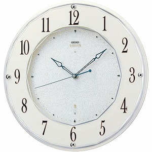 【SEIKO CLOCK EMBLEM】セイコー エムブレム エレガント スワロフスキー 電波掛時計 HS524W