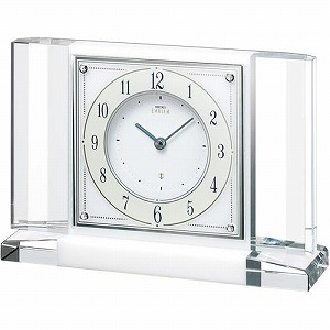 【SEIKO CLOCK EMBLEM】セイコー エムブレム エレガント 置時計 スワロフスキー HW564W【送料無料】