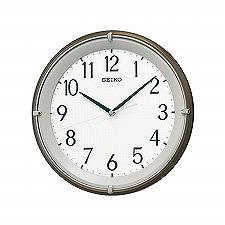 【SEIKO CLOCK】セイコークロック製セイコー SEIKO 自動全面点灯 電波 掛け時計 KX203B ブラウン