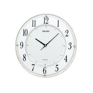 【SEIKO CLOCK】セイコークロック製セイコー SEIKO クロック 薄型電波ソーラークロック SF506W ホワイト