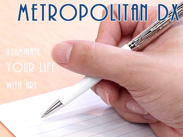 【WATERMAN】ウォーターマン METROPOLITAN メトロポリタン デラックス ボールペン 油性 ホワイトCT WM-METROPDX-BP-WHC 【メール便可能】【メール便の場合商品ボックス付属なし】