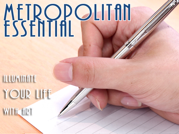 【WATERMAN】ウォーターマン METROPOLITAN メトロポリタン エッセンシャル ボールペン 油性 ステンレススチールCT S2259372 WM-METROPES-BP-SSC【メール便可能】【メール便の場合商品ボックス付属なし】