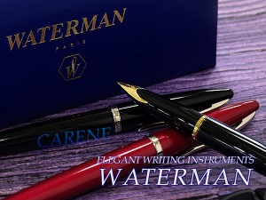 【WATERMAN】ウォーターマン CAREN カレン 万年筆 18金ペン先 ペン先EF~M レッドST WM-CARENE-FP-RDS 【メール便可能】【メール便の場合商品ボックス付属なし】