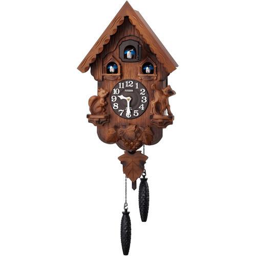 【RHYTHM】リズム工業 鳩時計 カッコーパンキーR 掛時計 4MJ221RH06