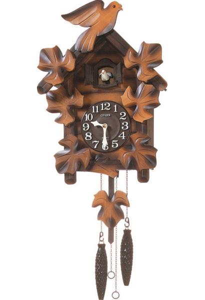 【RHYTHM】リズム工業 鳩時計 カッコーメイソンR 掛時計 4MJ234RH06