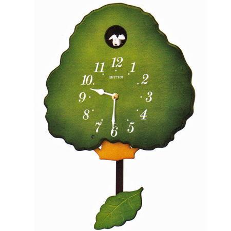 【RHYTHM】リズム工業 鳩時計 グレイスカッコー413R 掛時計 4MJ413RH05